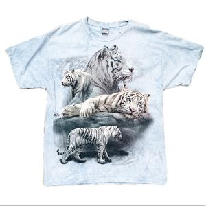 Jerzees | Tie Dye Tiger Graphic Tee